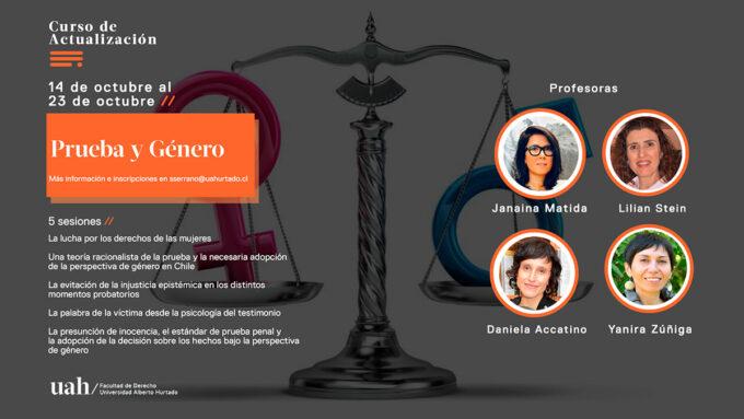 Cursos de actualización en Derecho: Prueba y Género