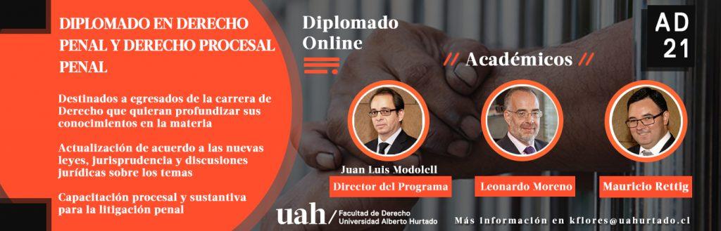 Diplomado en Derecho Penal y Procesal Penal: Doctor en Derecho, Profesores